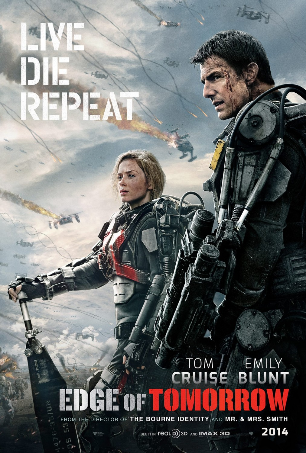 Edge of tomorrow poster Emily Blunt Tom Cruise