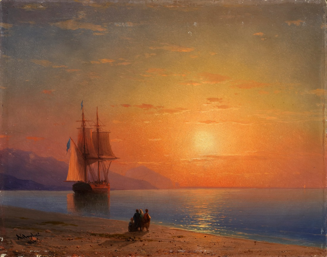 Sunset at Sea-Ivan Aivazovsky-1864